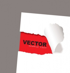 Torn paper reveal red vector