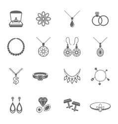 Jewelry icon black vector