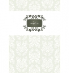 vector ornate frame vector image