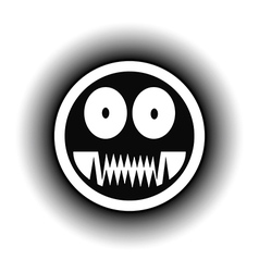 Monster button vector