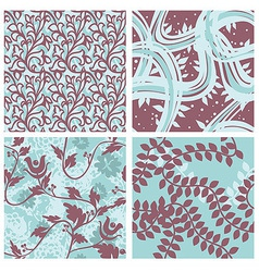 Set of floral seamless patterns - vector
