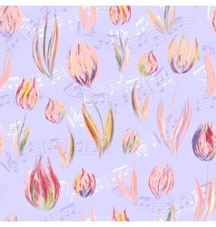 Bright seamless pattern with oil painted pastel vector