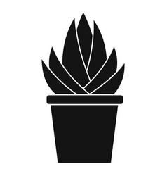 Aloe vera plant icon simple style vector