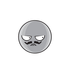 angry cartoon face expression people emoticon vector image