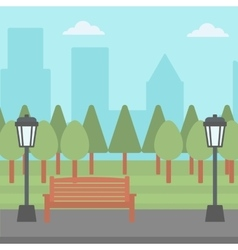 Background of park with streetlight vector image