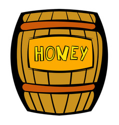 barrel with honey icon icon cartoon vector image vector image
