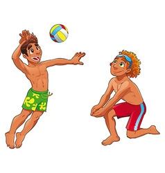 Beach volley vector