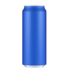 blue metal aluminum beverage drink can 500ml vector image vector image