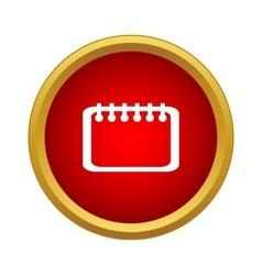 Calendar Icon simple style vector image