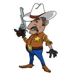 cartoon image of sheriff vector image vector image