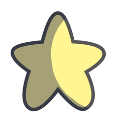 cute light star in the sky image vector image vector image