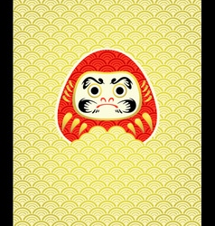 Daruma in waves vector image vector image