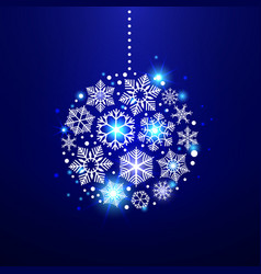 decorative christmas snowflakes vector image