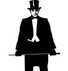 Fancy man vector image