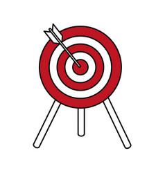 flat line target design vector image
