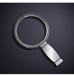 Flat metallic logo magnifier vector image