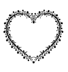 Flourishes vintage heart vector