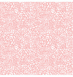 gentle pastel pink lace roses seamless vector image