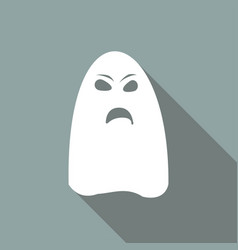 ghost icon on long shadow vector image