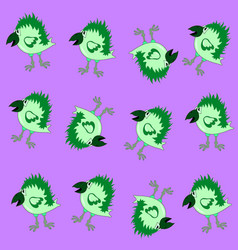 Green crow pattern vector