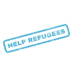 Help Refugees Rubber Stamp vector image vector image
