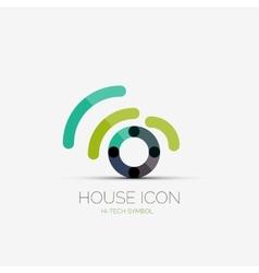 Home wifi company logo business concept vector