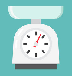 Kitchen scales flat icon household and appliance vector