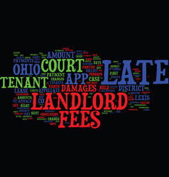landlord s corner late fees in ohio text vector image