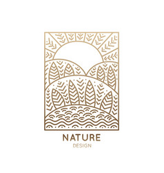 logo rectangular nature vector image vector image