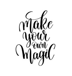 Make your own magic hand written letterin vector