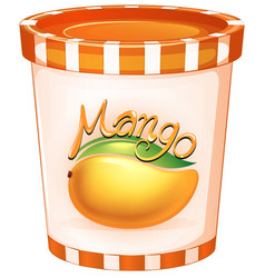 mango in orange cup vector image