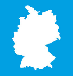 Map of germany icon white vector