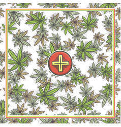 Marijuana medical banner five vector