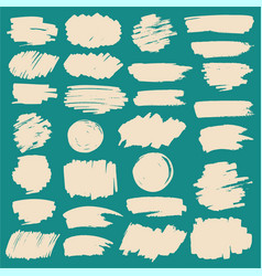 marker stripes and grunge brush strokes set vector image