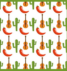 Mexican culture pattern background vector