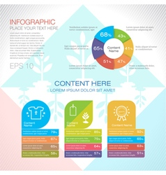 Modern graph design or infographic design template vector image vector image