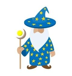 Old wizard cartoon character vector image