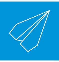 Paper Plane Thin Line Icon Paper Origami Airplane vector image