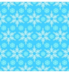 Pattern from snowflakes vector image vector image