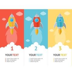 Rocket flat option banners vector image
