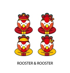 Rooster Chinese vector image vector image