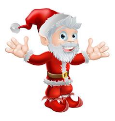 Santa waving vector