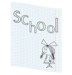 School girl picture vector