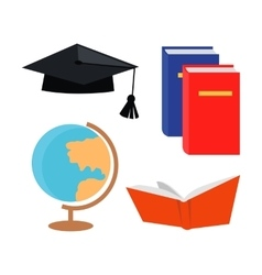 Set of Education Accessoires Icons Isolated vector image
