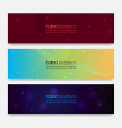 Set of modern wave abstract background with swirl vector