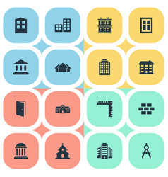 set of simple construction vector image vector image