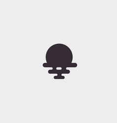 Sun sea travel logo design universal vector