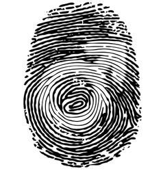 Thumb print with male gender symbol vector
