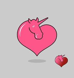 Unicorn LGBT symbol community Sign of love magic vector image vector image