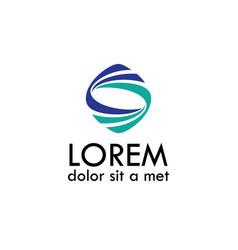 Wave letter s logo vector